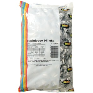 Rainbow Mints Individually Wrapped 1Kg