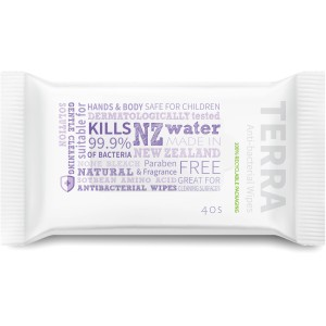 Terra Antibacterial Wipes Pkt 40