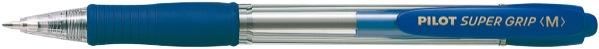Pilot Super Grip Ballpoint Pen Retractable Medium Blue