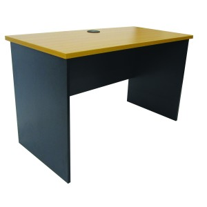 Delta Straight Desk 1200l X 600d X730h Beech Top With Charcoal Frame