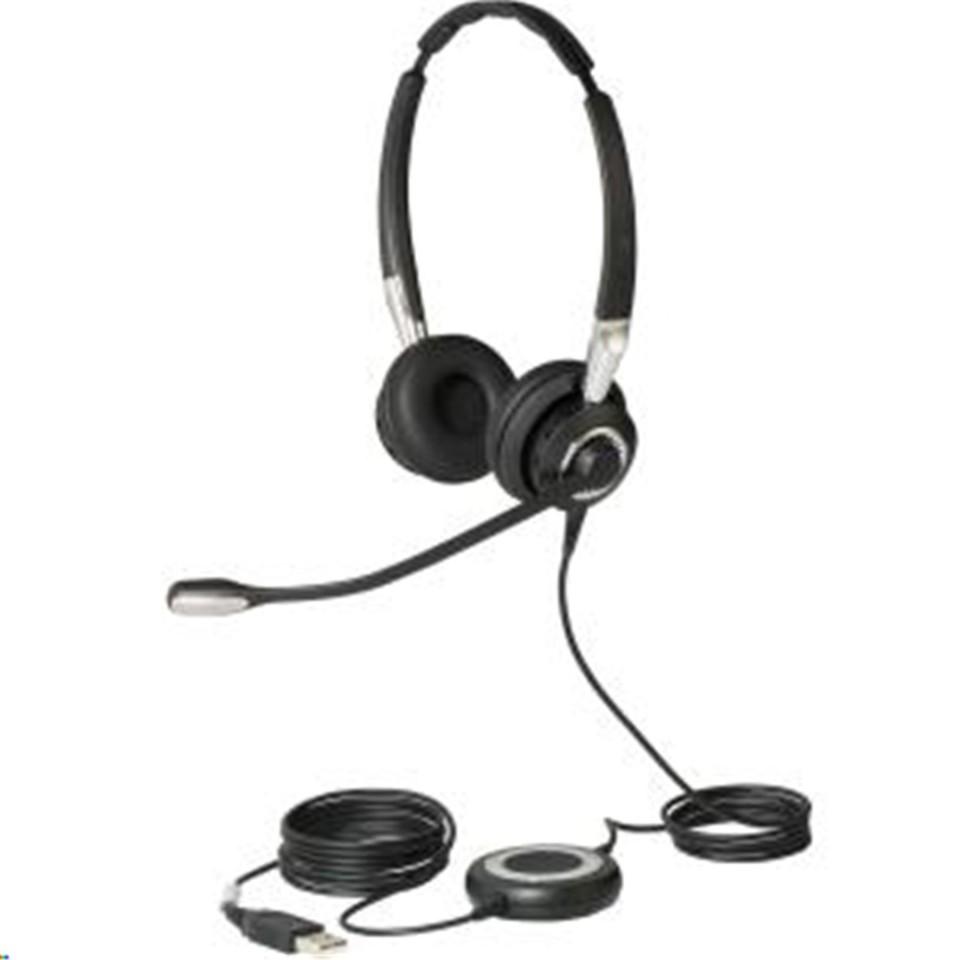 Jabra Biz 2400 Ii Ms Usb Over The Head Wired Stereo Headset