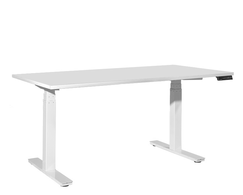 Tidal Standard Sit To Stand Desk 1800w X 800d mm White Top / White Frame