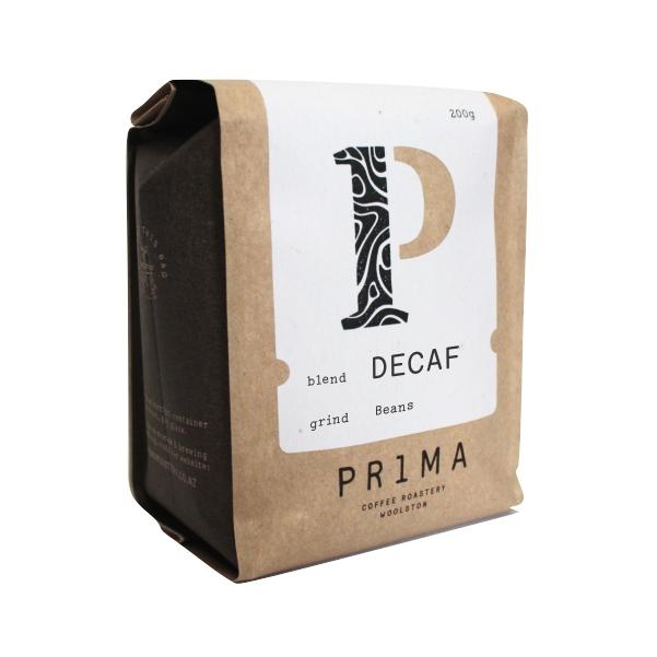 Prima Decaf Coffee Beans 200g