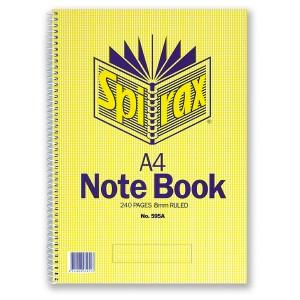 Spiral Notebook A4 No.595A 240 Page