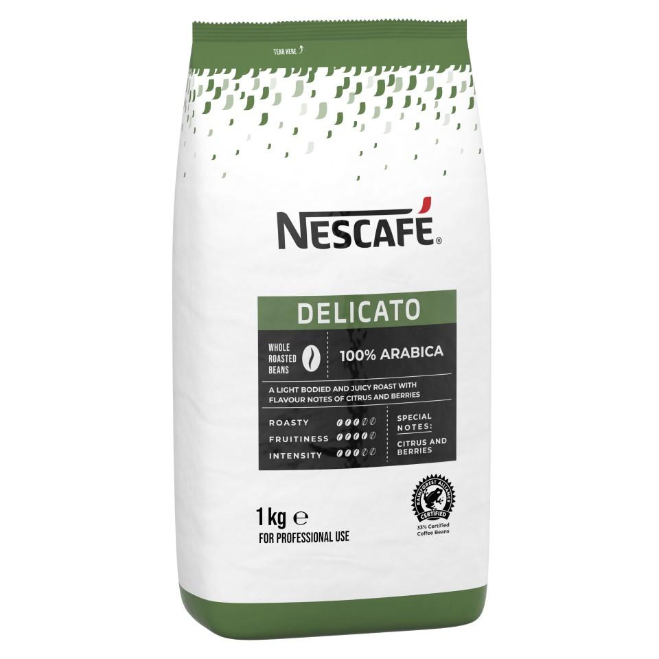Nescafe Delicato Roasted Beans 1kg Bag