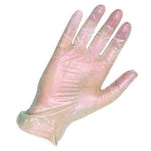 Disposable Vinyl Clear Powder Free Gloves Large Packet of 100