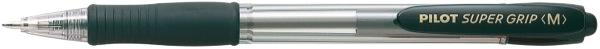 Pilot Super Grip Ballpoint Pen Retractable Medium Black