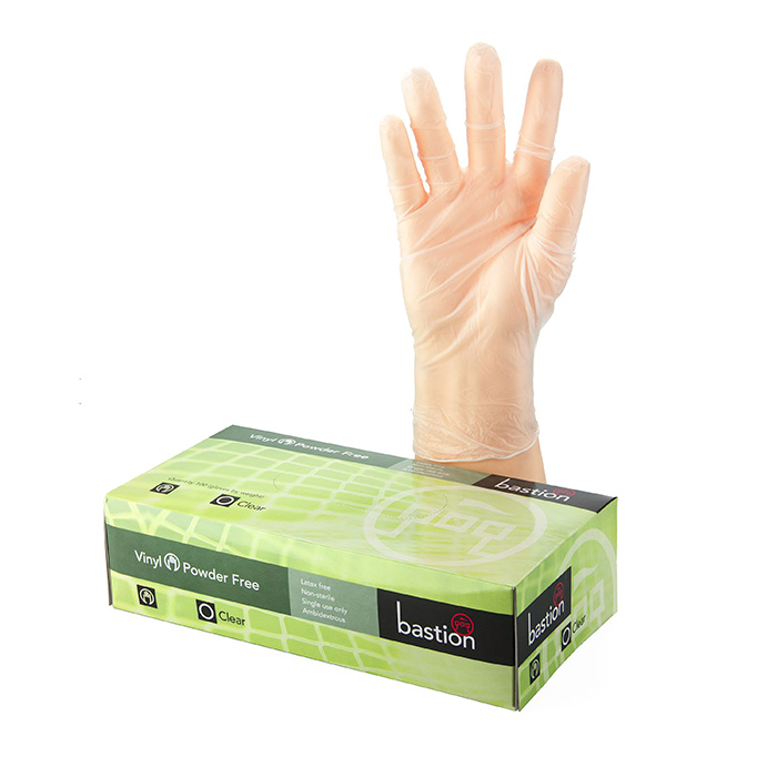 Disposable Vinyl Clear Powder Free Gloves Large Box 100