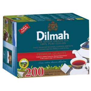 Dilmah Premium Black Tea Tagless Tea Bags Pack 200s