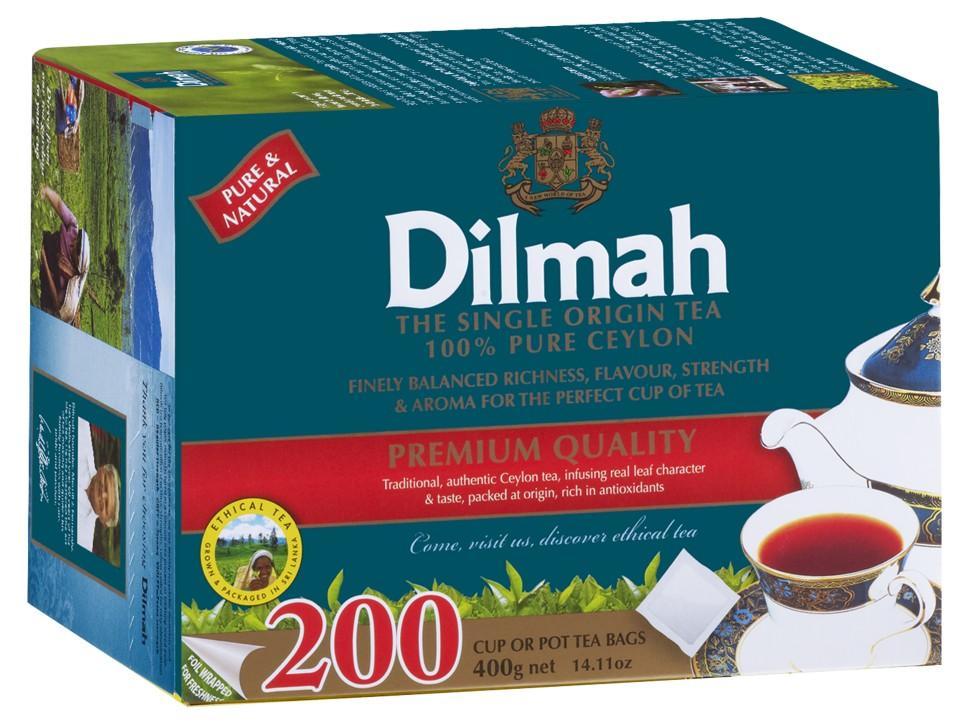 Dilmah Premium Black Tea Tagless Tea Bags Pack 200s