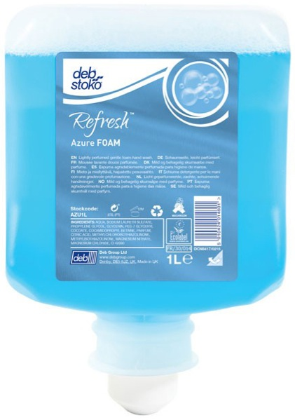 Deb Stoko Refresh Azure Foam Wash Cartridge 1 Litre AZU1L