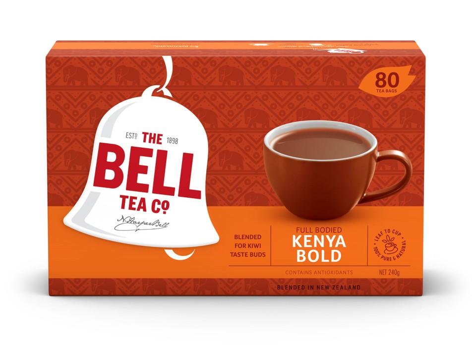 Bell Kenya Bold Tagless Tea Bags Box 80