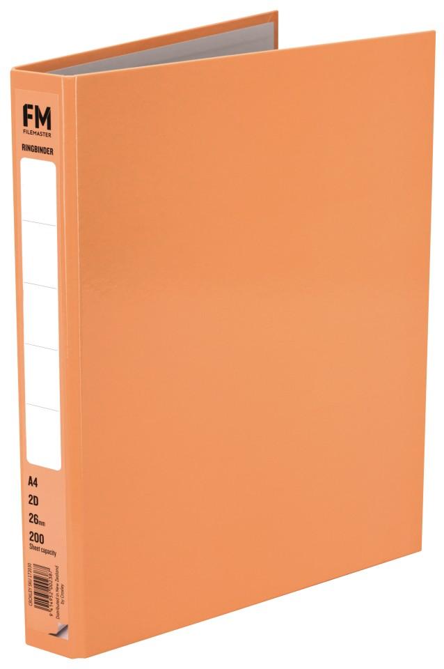 FM Pastel Ring Binder A4 2D 26mm Sunset Orange