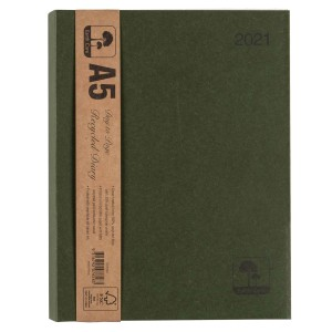 Earthcare 2021 Recycled Diary A5 Day To Page Wiro
