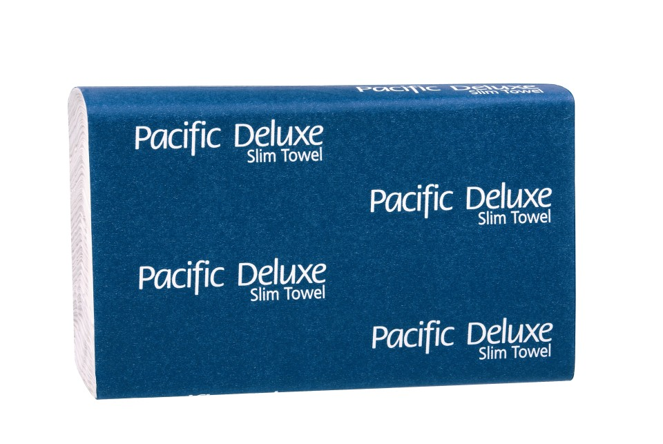 Pacific Deluxe Slimtowel Hand Towel White 200 Sheets per Pack SD200 Carton of 16