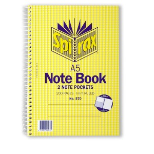 Notebook A5 Gusseted Pockets Perforated 200 Page