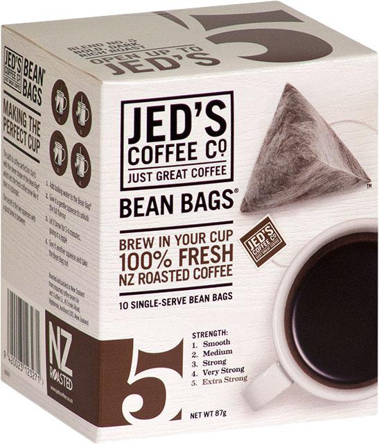 Jeds No. 5 Instant Coffee Bean Bag Box 10