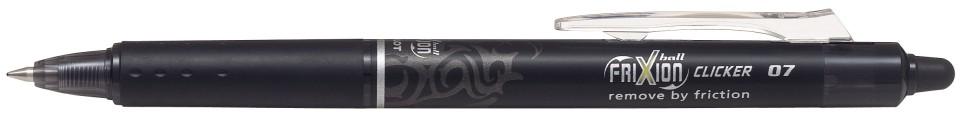 Pilot Frixion Clicker Ballpoint Pen Erasable Black