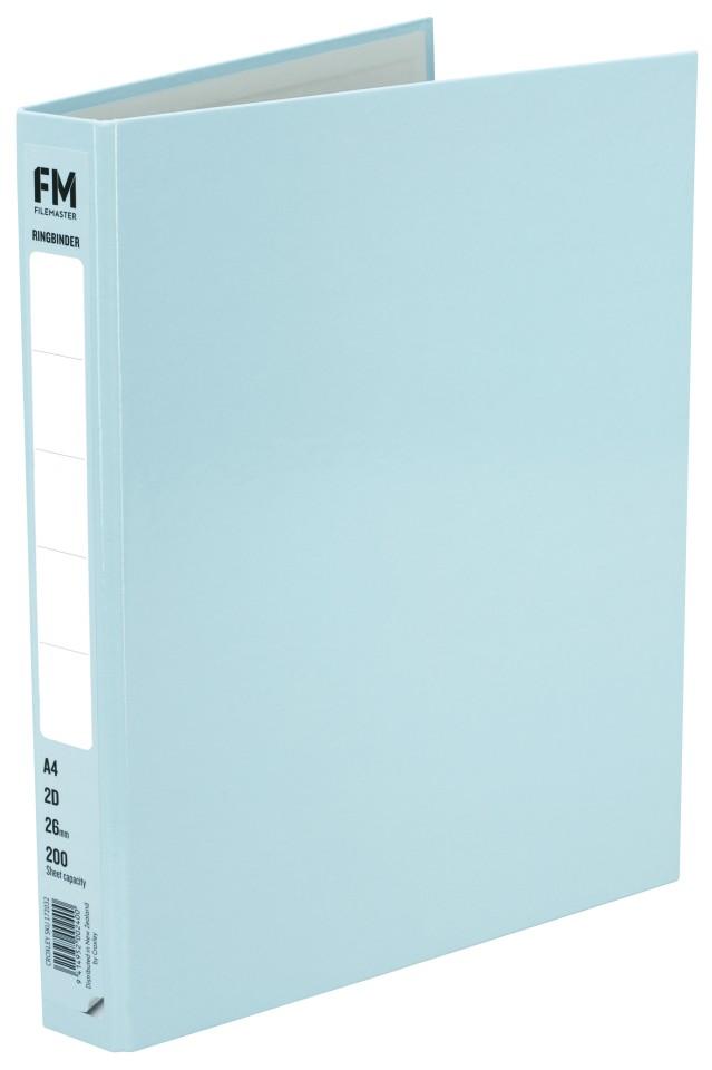 FM Pastel Ring Binder A4 2D 26mm Baby Blue