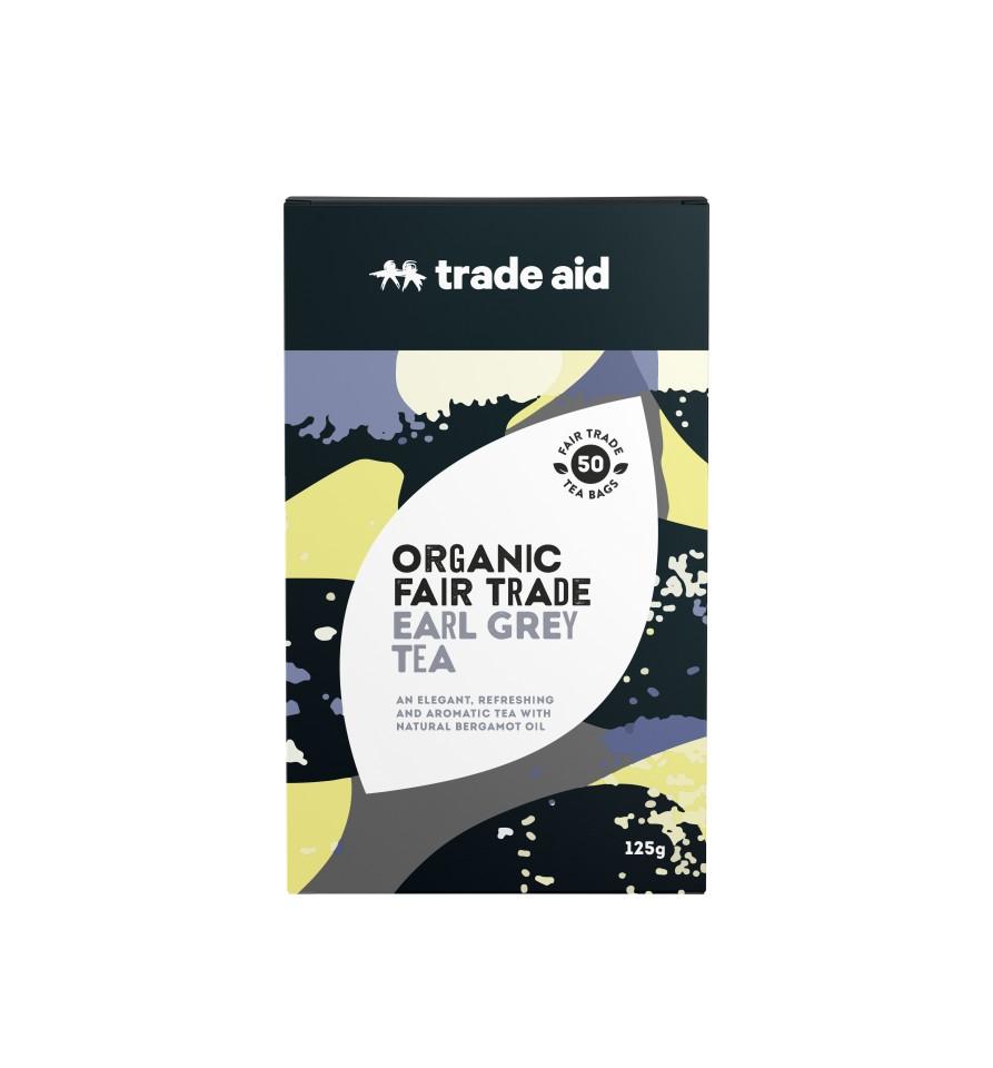 Trade Aid  F/t Organic Earl Grey Black Tea Bags Pack Of 50