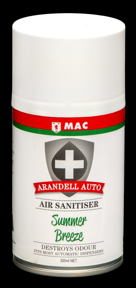 Mac Arandell Auto Air Sanitiser Spray Summer Breeze 300ml ARANMSU3A Carton of 12