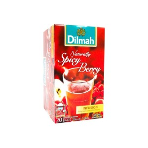 Dilmah Fruit Naturally Spicy Berry Foil Enveloped Caffeine Free Tagged Tea Bags 20s