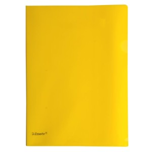 Esselte L-Shape Pocket Heavy Duty Yellow Pkt12