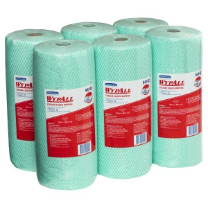 WypAll Regular Duty Cloth Wipers 94142 34cm x 45 meter per Roll Green Carton of 6