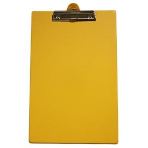 GBP Foolscap Pvc Clipboard Yellow