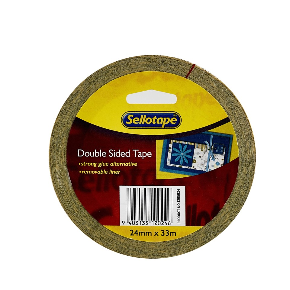 Sellotape 1205 Double-Sided Tape 24x33m