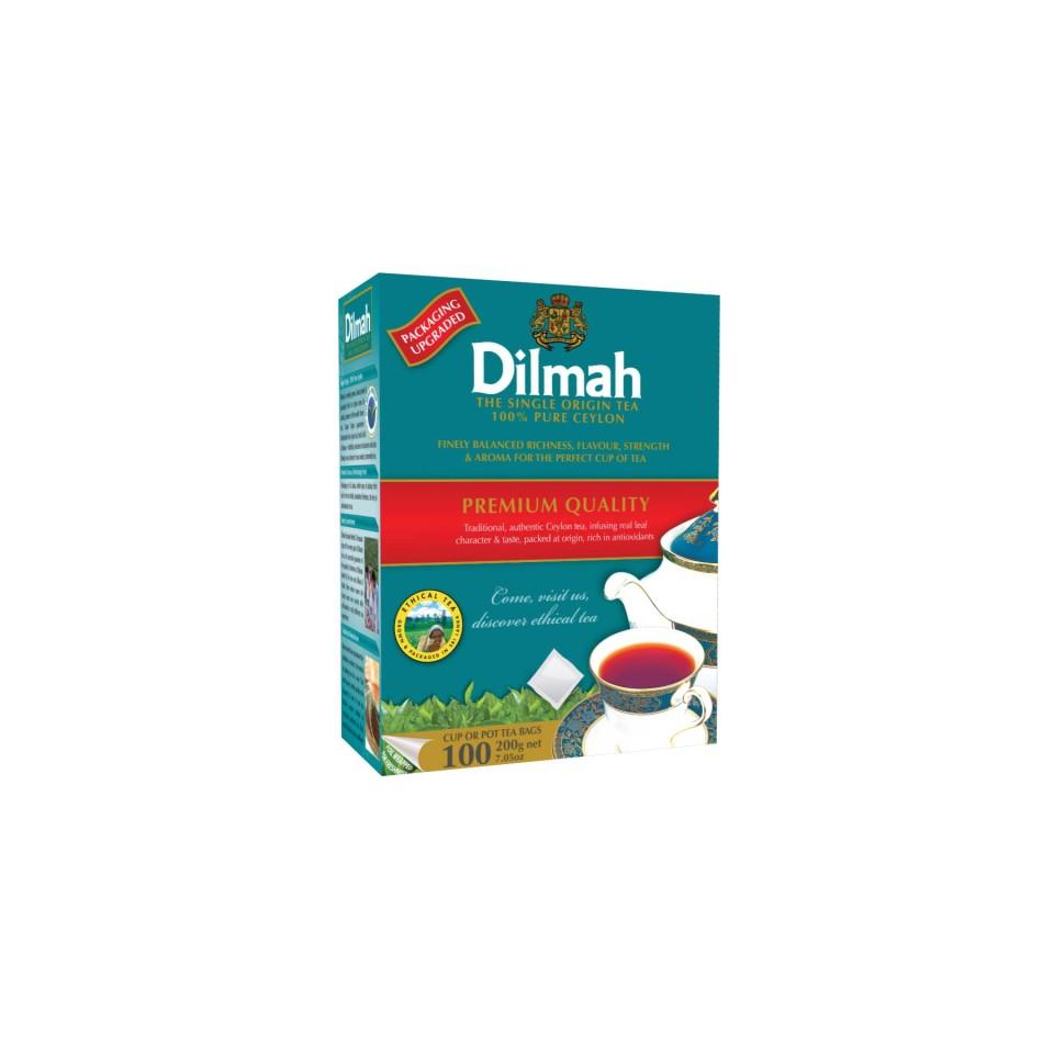 Dilmah Premium Black Tea Tagless Tea Bags Pack 100s