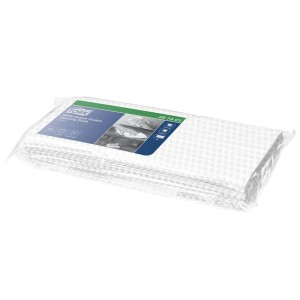Tork Colour Coded Cleaning Cloth 1 Ply White 297301 Pack of 25