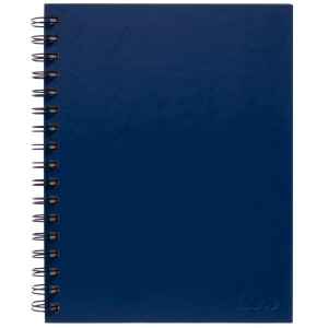 Icon Spiral Hardcover Notebook Ruled A5 200 Pages Blue