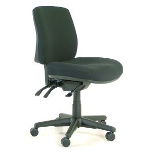 Buro Roma Mid Back 3 Lever Chair Black