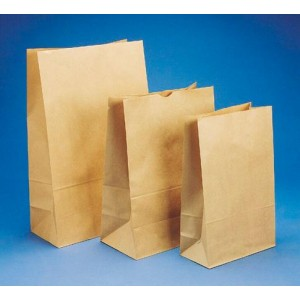255X140X470mm Size 6 Block Bottom Paper Bag Carton 200