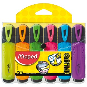 Maped Fluo Peps Highlighter Assorted Box 6