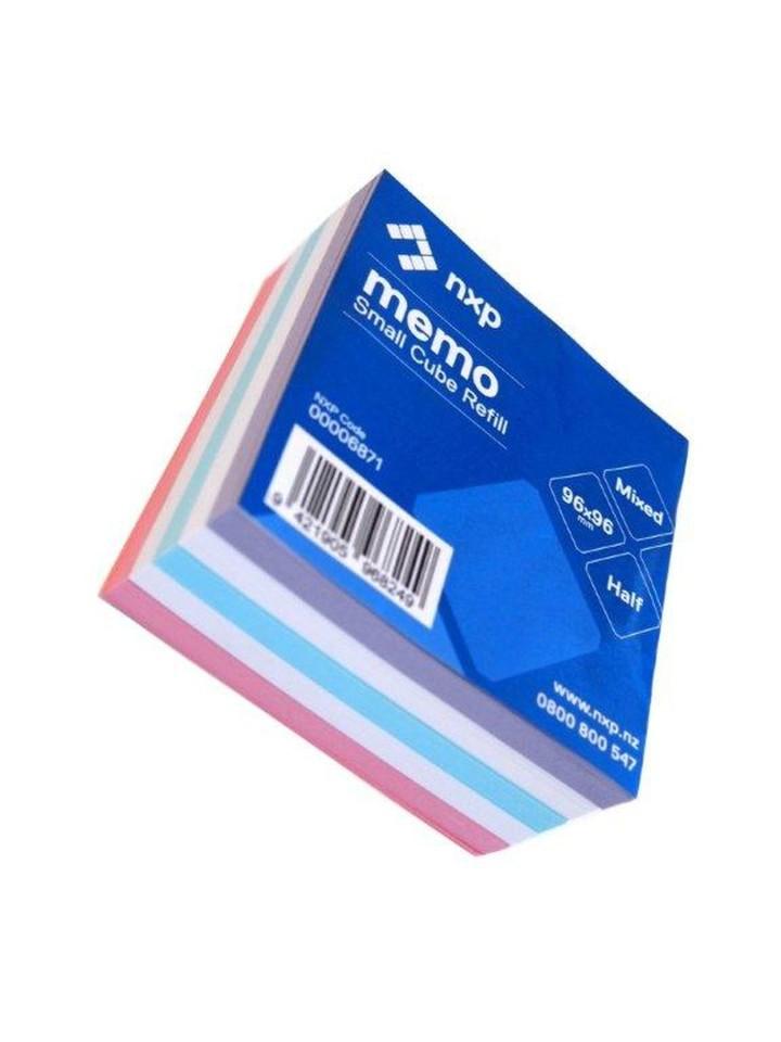 Small Memo Cube Refill Standard Half Size