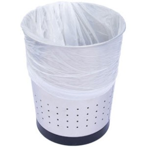 Kitchen Tidy Liner HDPE 27 Litre White 620mm x 520mm 10 micron Roll of 50