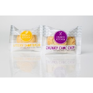 Chocolate Chip & Short Bread Biscuits Mixed Twin Pack Box 100