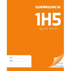 Warwick Exercise Book 1H5 36 Leaf Quad 10mm 255x205mm