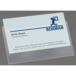 3L Self Adhesive Business Card Pockets 95X60mm Pack 10