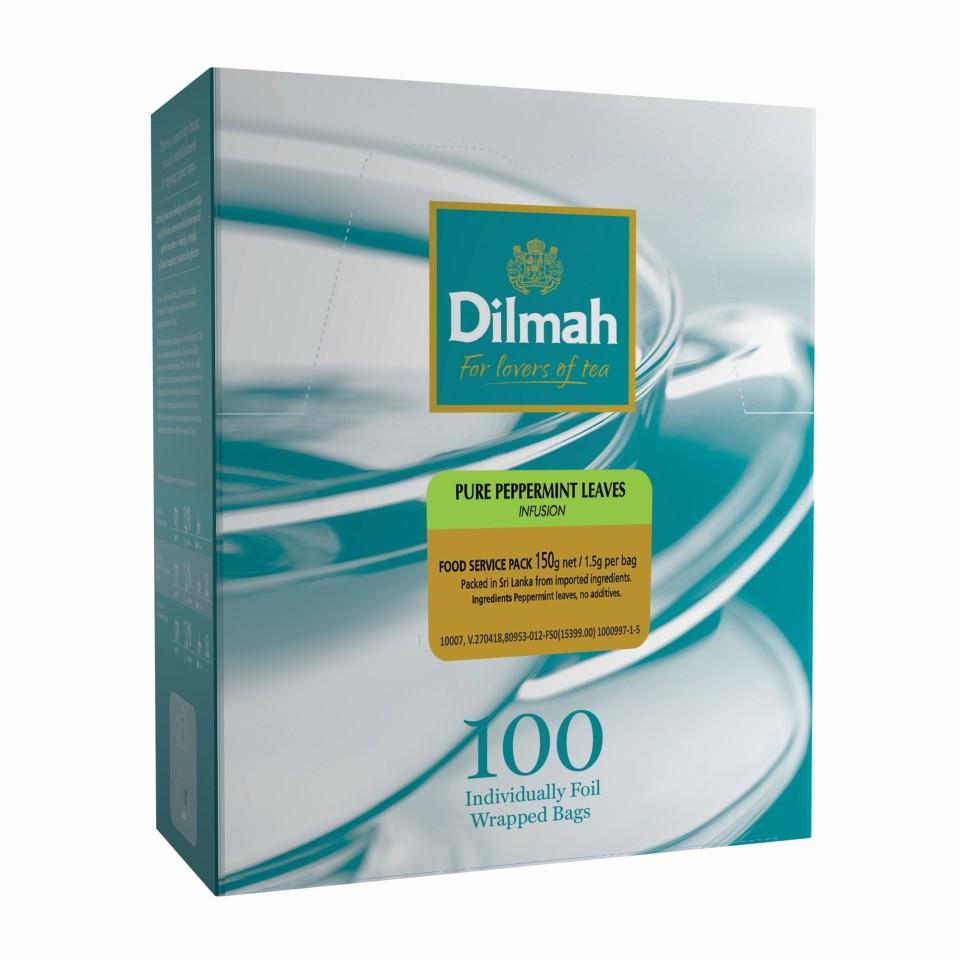 Dilmah Pure Peppermint Leaves Enveloped Tea Bags Pack 100