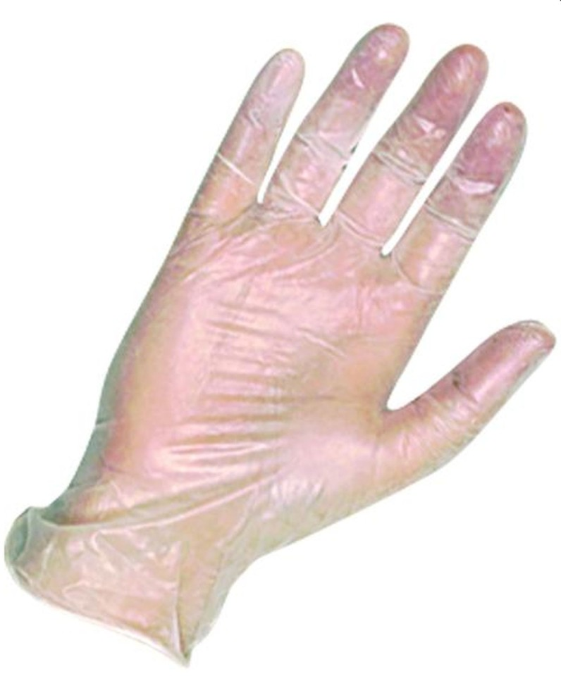 Disposable Vinyl Clear Powder Free Gloves Small Packet of 100