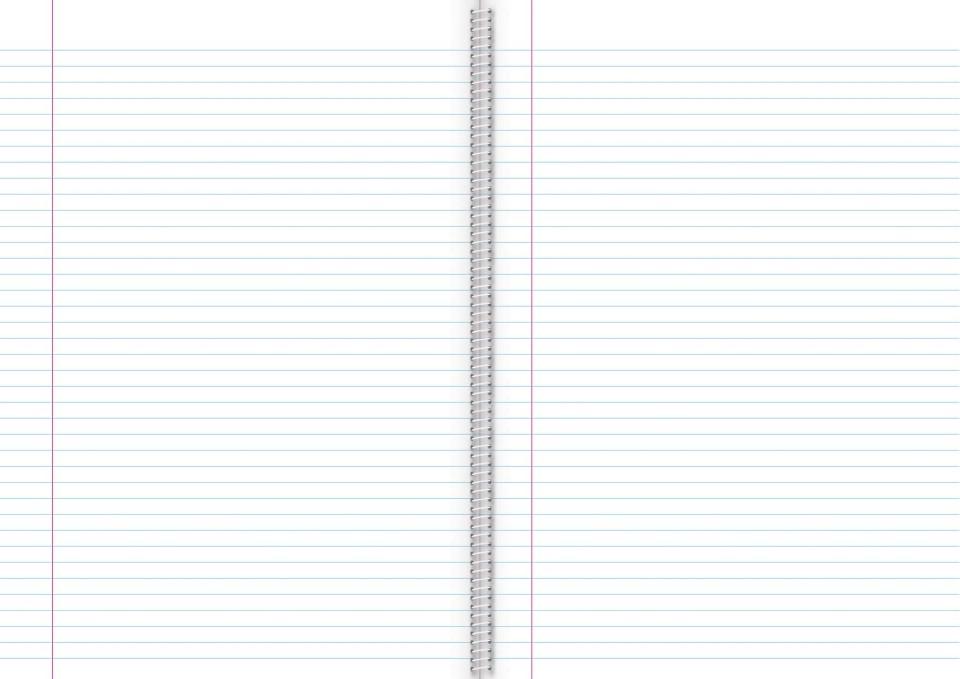 Warwick Exercise Book 8B8 50 Leaf A4 Spiral Ruled 7mm