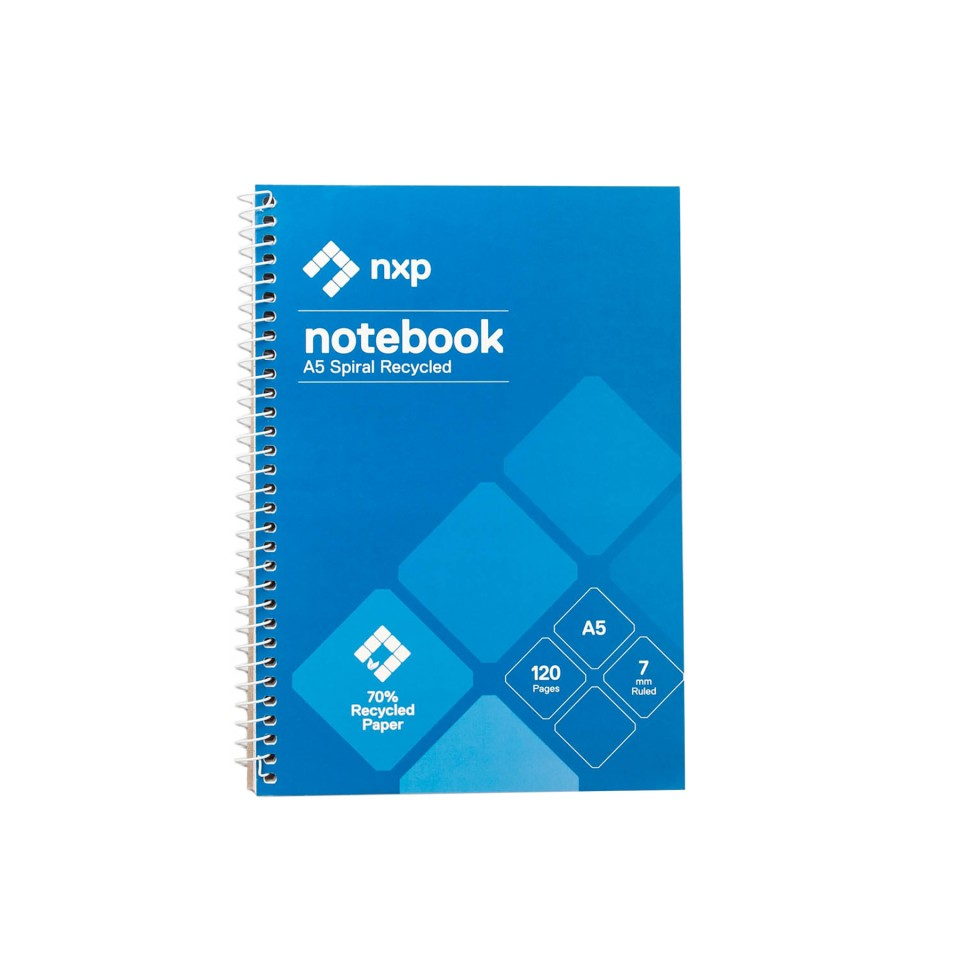 NXP Spiral Notebook Recycled A5 120 Pages