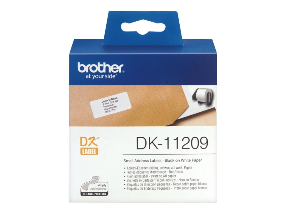 Brother Small Address Labels DK-11209 29X62mm 800 Roll