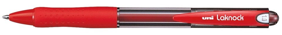 Uni Laknock 1.0mm Retractable Medium Red SN-100
