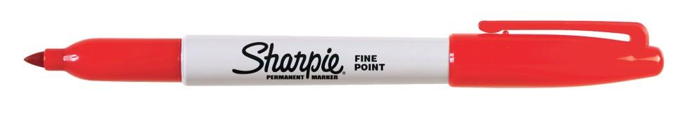 Sharpie Permanent Marker Fine 1.0mm Red