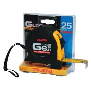Tajima Measuring Tape 25mm x 8 Metres Yellow