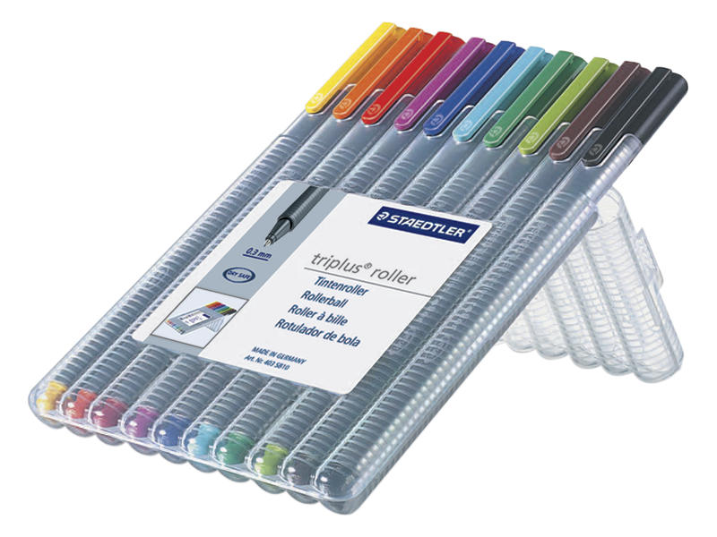 Staedtler Triplus Rollerball Pen 0.4mm Assorted Colours Set 10